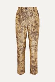 Dolce & Gabbana Metallic brocade straight-leg pants