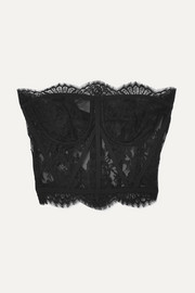 Dolce & Gabbana Scalloped Chantilly lace bustier