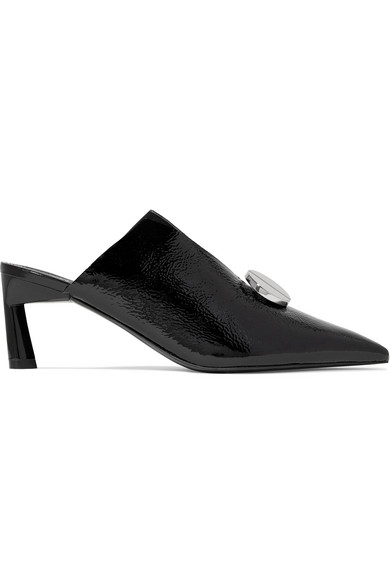 Mercedes Castillo AINSLEY PATENT-LEATHER MULES