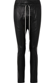 Bassike Leather track pants