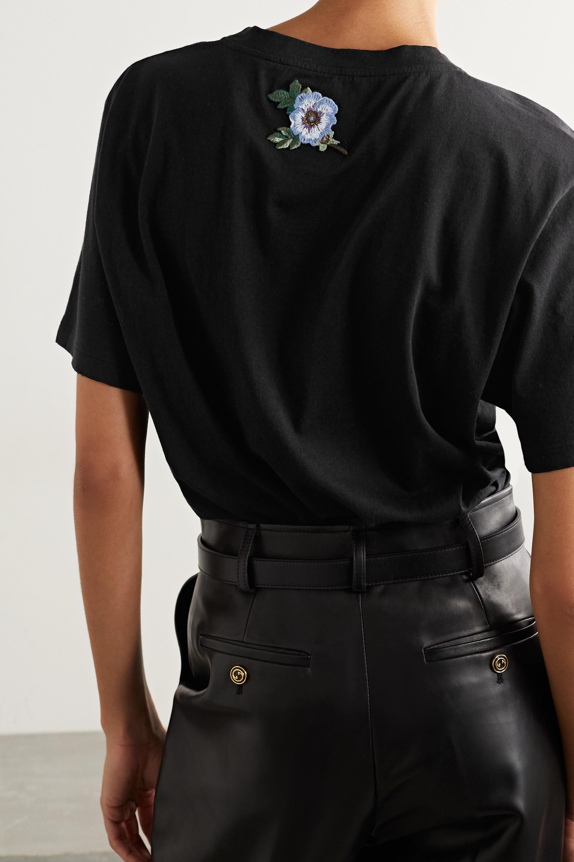 Gucci Oversized-T-Shirt aus bedrucktem Baumwoll-Jersey in Distressed-Optik