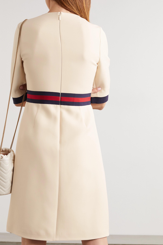 Gucci Grosgrain-trimmed wool and silk-blend cady dress