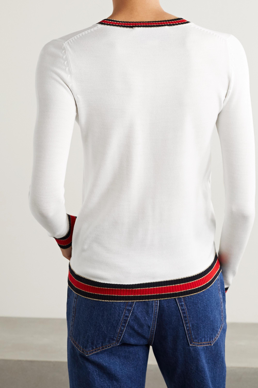 Gucci 条纹羊毛毛衣