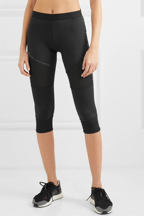 + Parley for the Oceans Performance Essentials mesh-paneled Climalite leggings