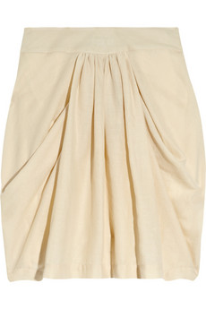 By Malene Birger | Beyana draped cotton-crepe skirt | NET-A-PORTER.COM from net-a-porter.com