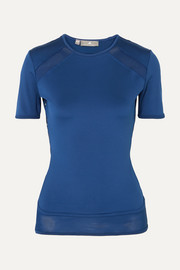 adidas by Stella McCartney T-shirt en Climalite et en résille Essentials x Parley for the Oceans