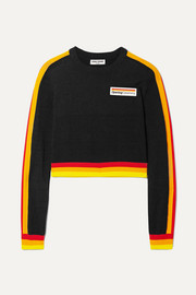 Opening Ceremony Cropped striped cotton sweater