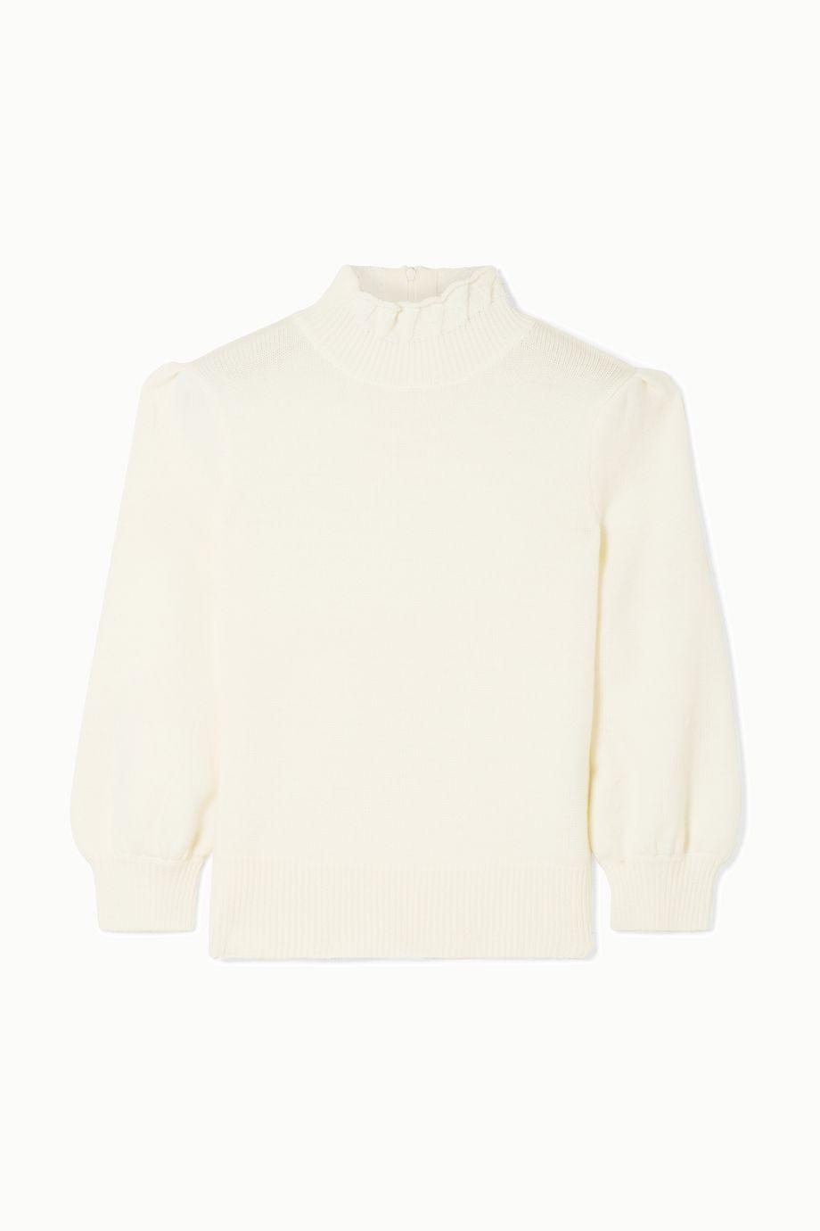 Co Ruffled merino wool turtleneck sweater