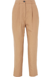 Dita Tencel and linen-blend straight-leg pants