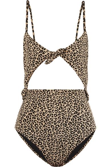 Mara Hoffman Mara Hoffman - Kia Cutout Jacquard-knit Swimsuit - Leopard Print