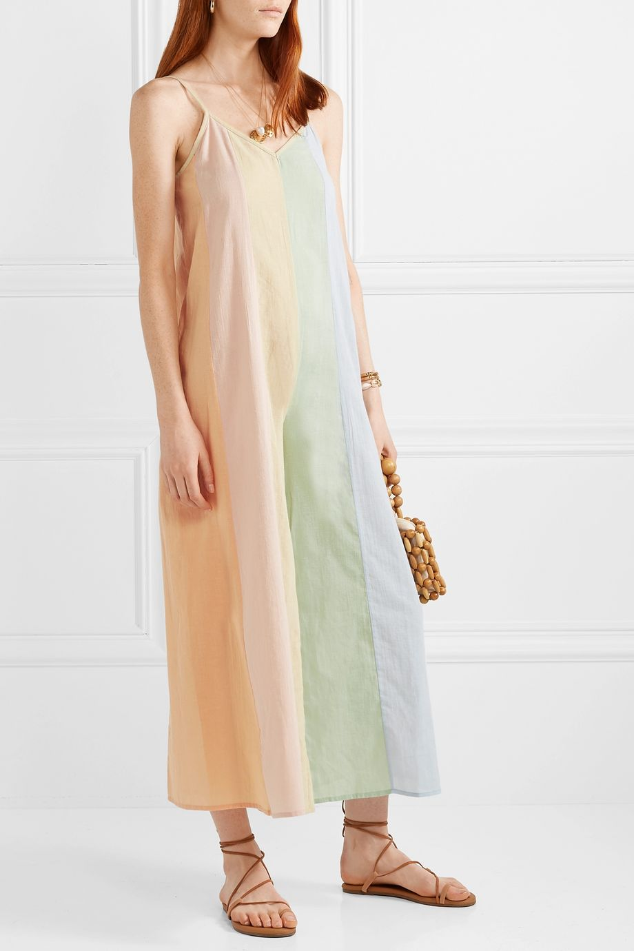 Mara Hoffman Carly paneled organic cotton-voile jumpsuit