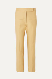 Khaite Coco cropped cotton-twill straight-leg pants