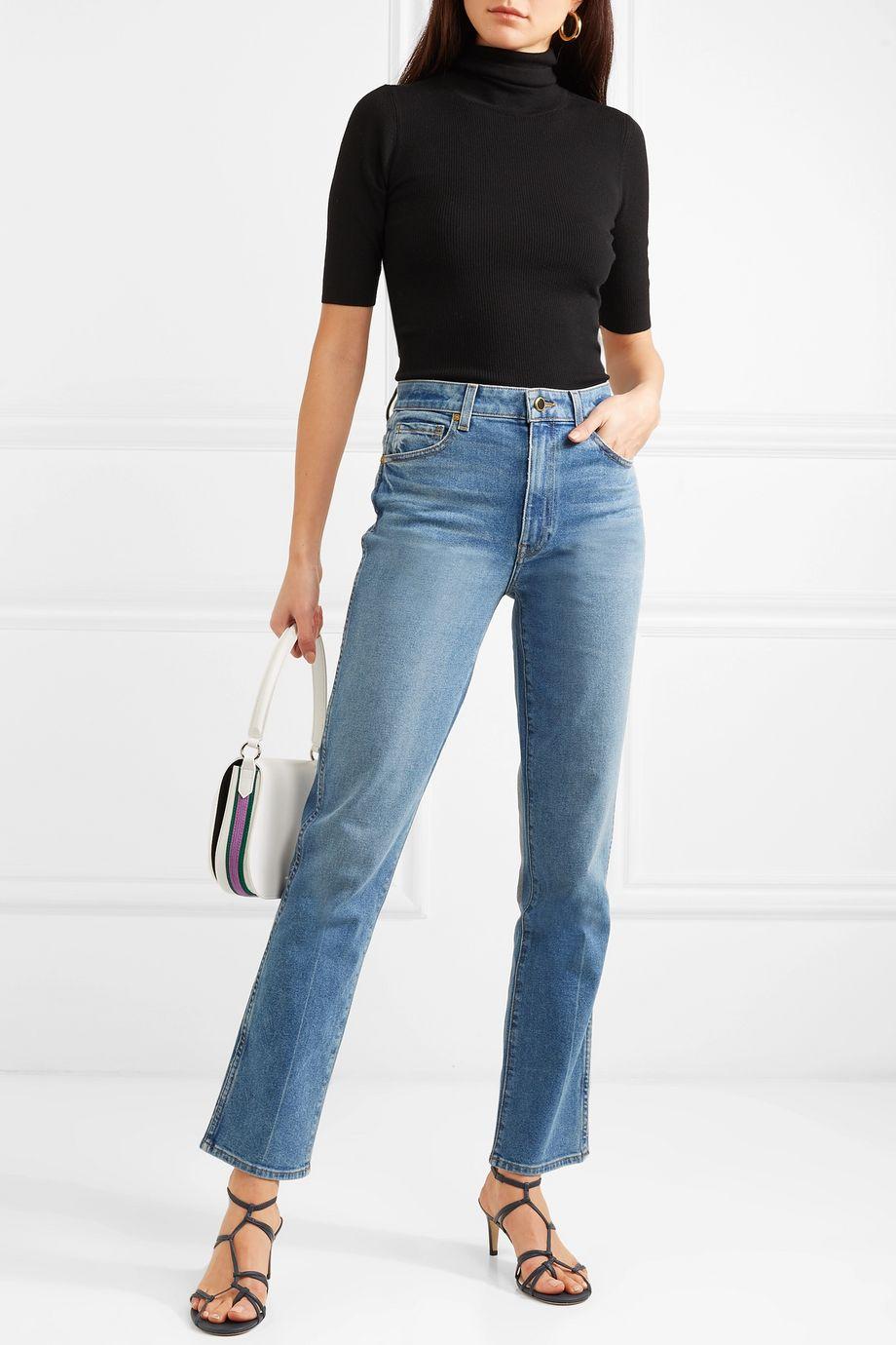 Khaite Victoria 高腰直筒牛仔裤