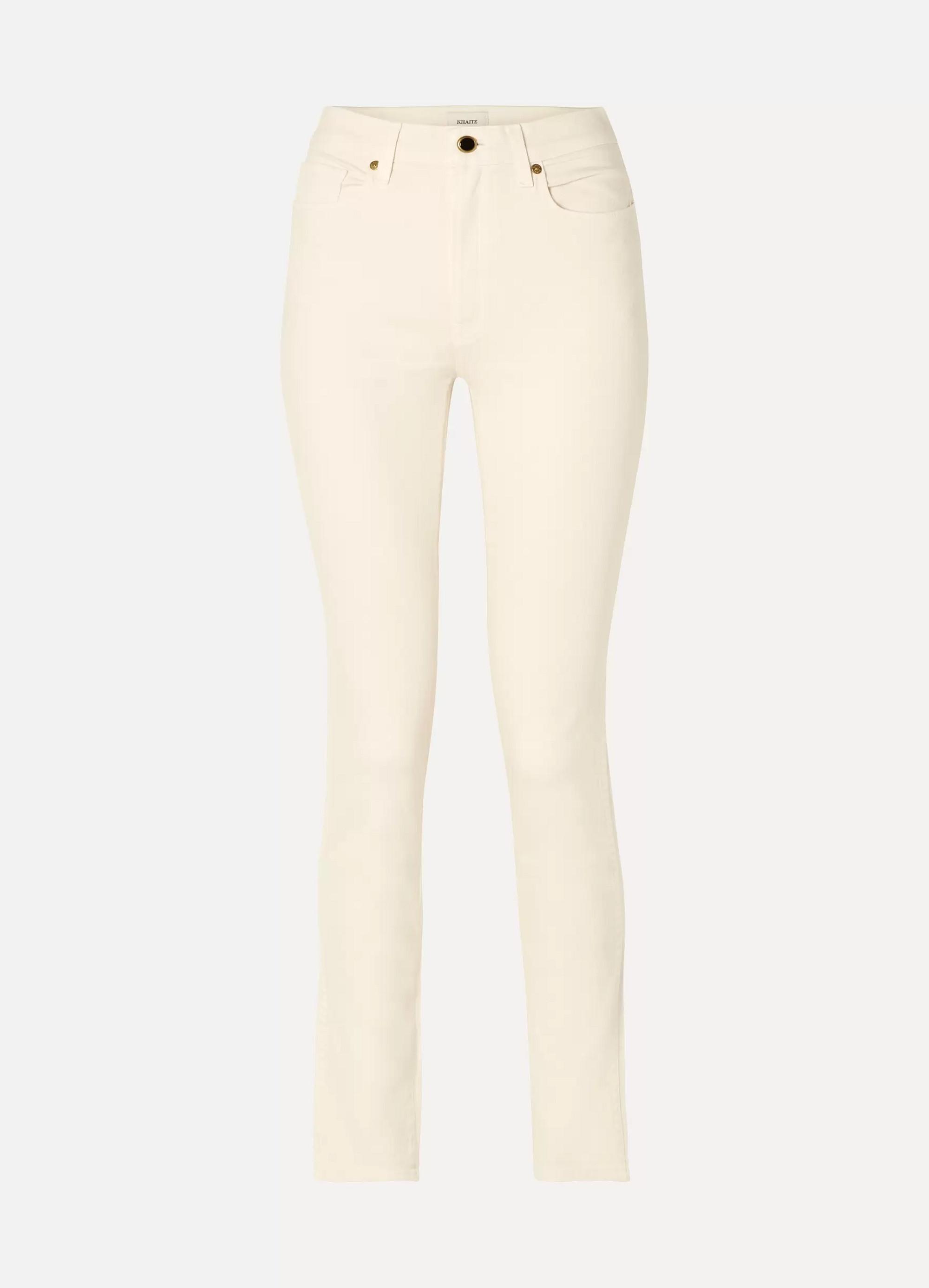 Khaite Vanessa 高腰窄腿牛仔裤