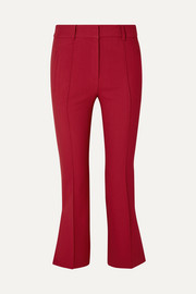 Marianne cropped twill flared pants