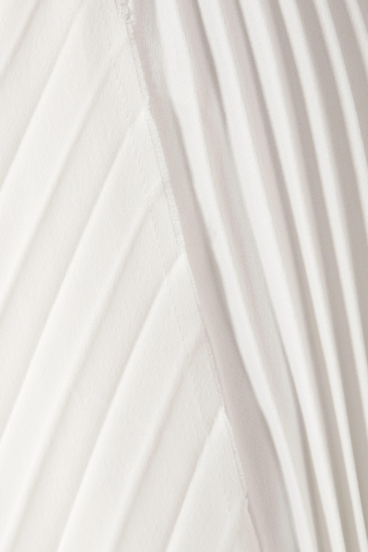 Khaite Charlotte asymmetric pleated crepe maxi skirt