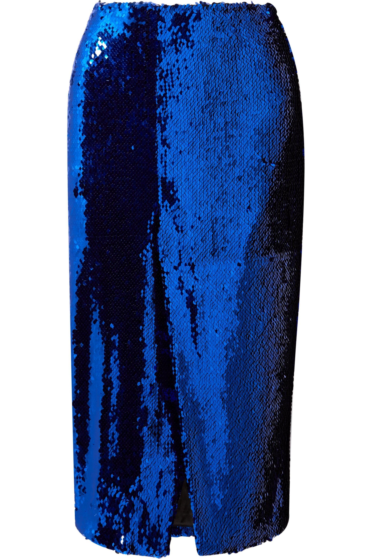 LAPOINTE 亮片绢网中长半身裙