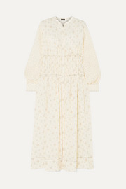 Tala-Woolf Patchwork ruched floral-print silk crepe de chine maxi dress