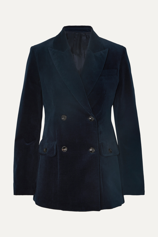 Joseph Moore double-breasted cotton-blend corduroy blazer