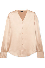 Joseph Silk-satin blouse