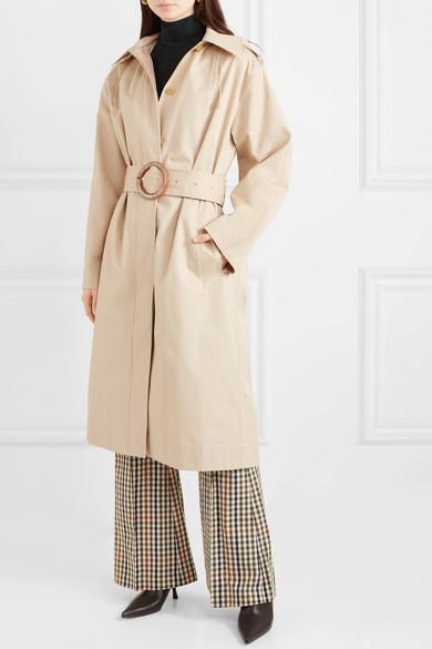 037cdffdf82b Joseph. Carbon hooded cotton-garbardine trench coat