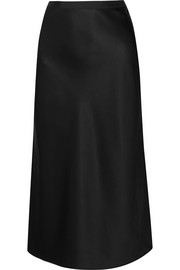 Hurst silk-satin midi skirt