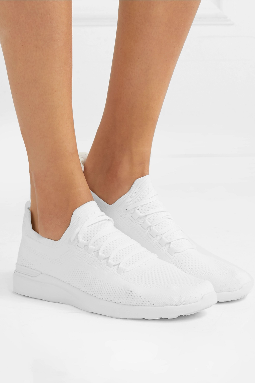 White TechLoom Breeze mesh sneakers