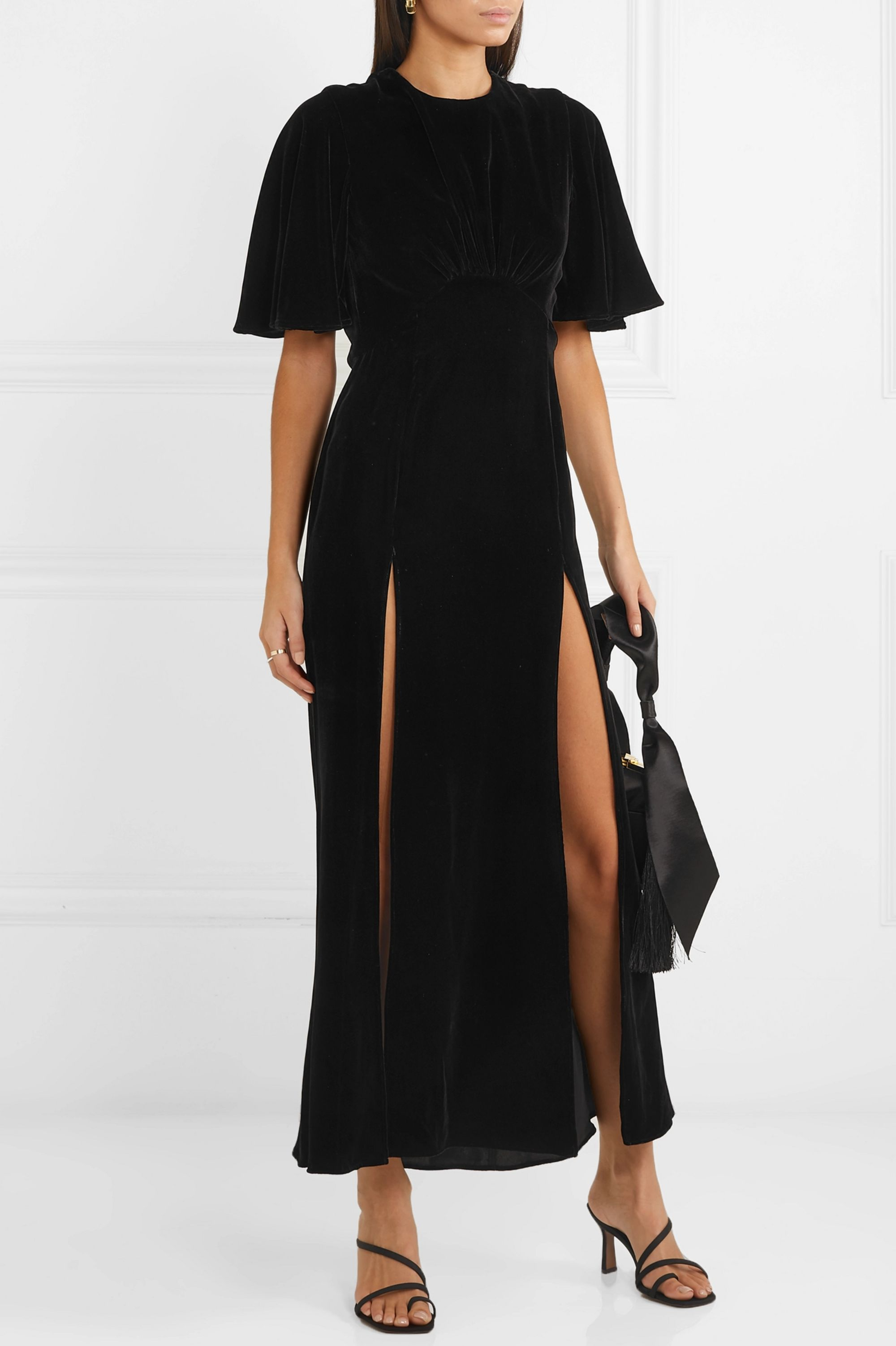 Les Rêveries Velvet midi dress
