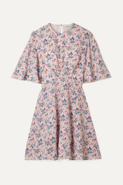 Les Rêveries Floral-print silk crepe de chine mini dress