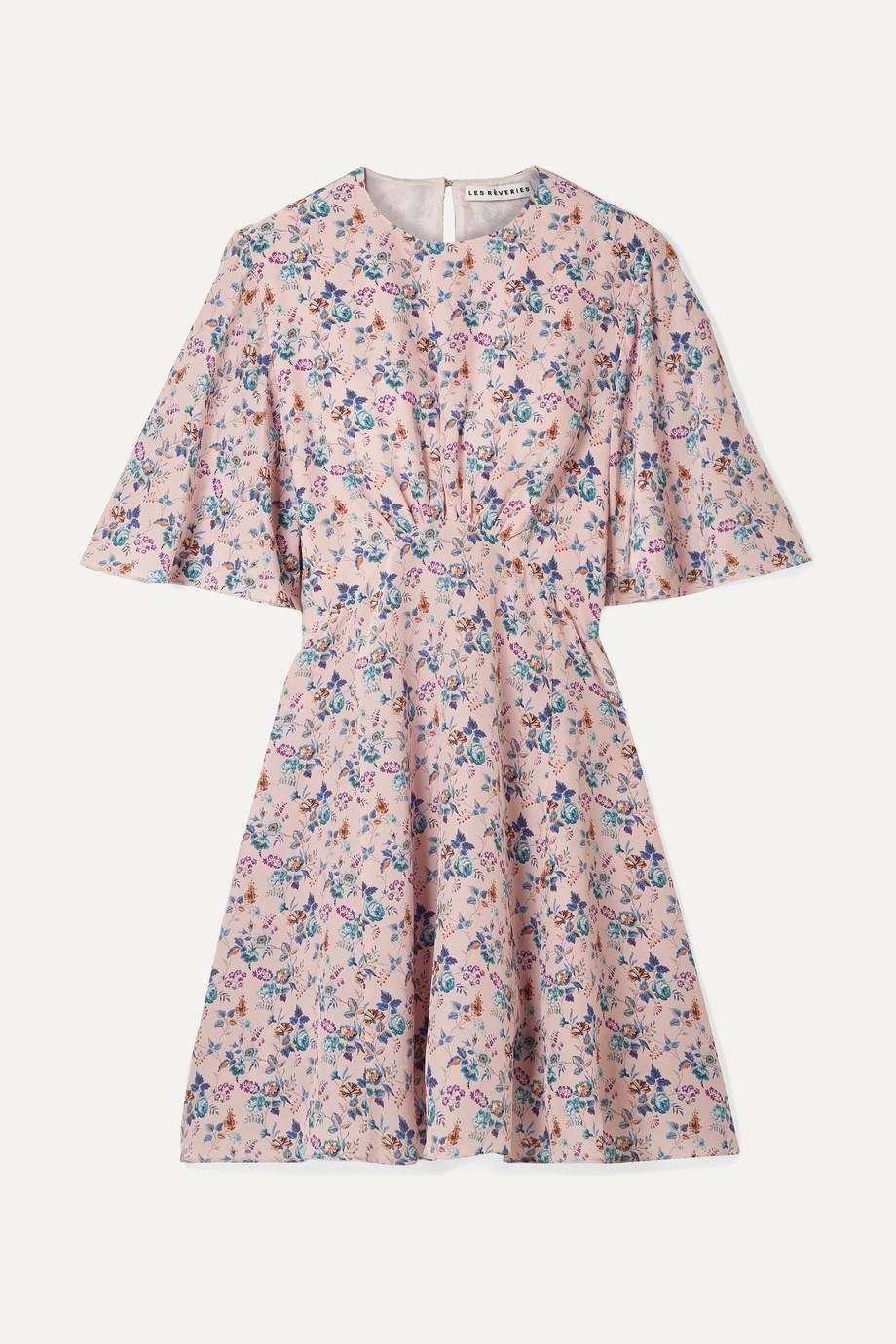 Les Rêveries   Floral-print silk crepe de chine mini dress   NET-A-PORTER.COM