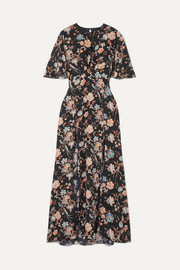 Les Rêveries Floral-print silk crepe de chine maxi dress