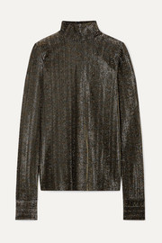 Les Rêveries Ribbed Lurex turtleneck top