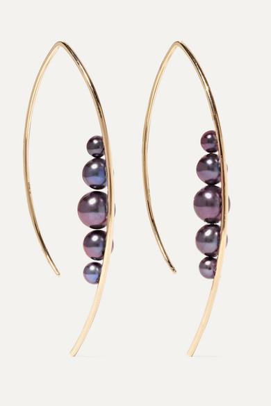 Mizuki - 14-karat Gold Pearl Earrings