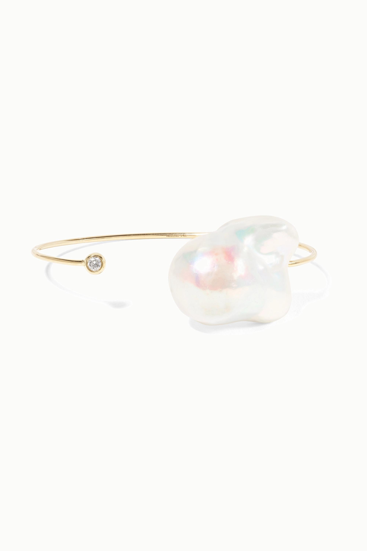 Mizuki 14K 黄金、珍珠、钻石手镯