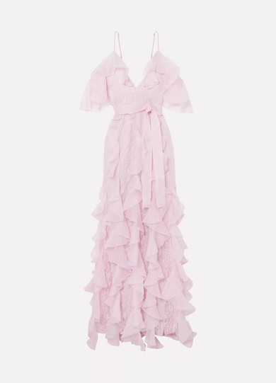 2cf8d28e47b86 alice McCALL. My Baby Love cold-shoulder ruffled silk-organza and corded  lace ...