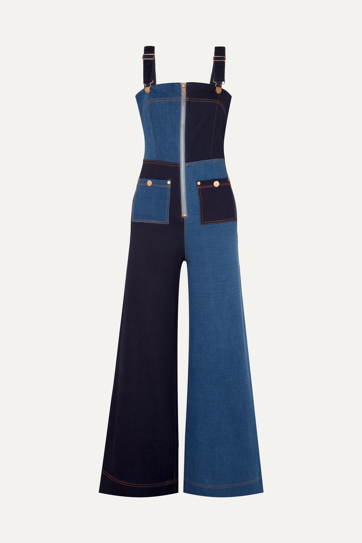 alice McCALL Quincy patchwork denim overalls