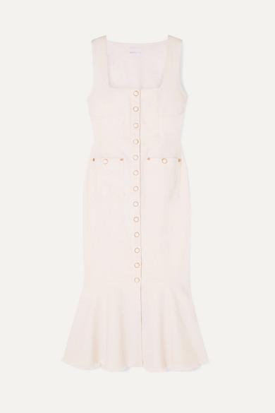 ALICE MCCALL Like I Do Stretch-Denim Dress in White