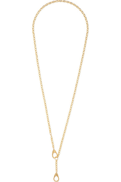 FOUNDRAE Heavy Belcher Guard Chain 18-Karat Gold Necklace