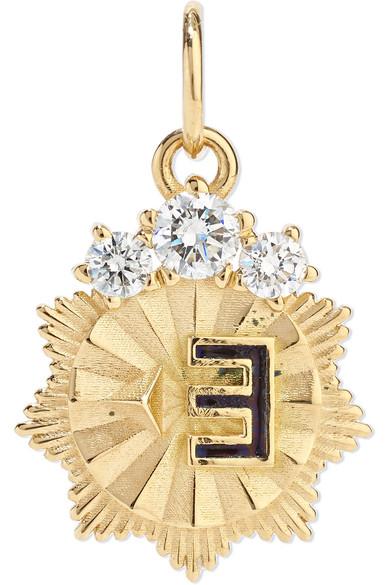 FOUNDRAE New Beginning 18-Karat Gold, Diamond And Enamel Pendant