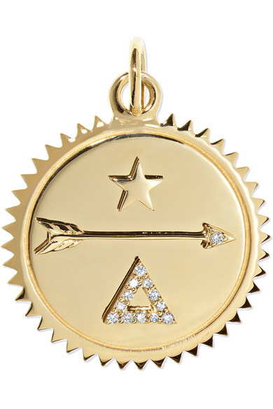 FOUNDRAE Dream 18-Karat Gold Diamond Pendant