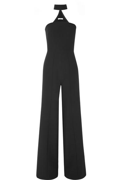 SAFIYAA Crepe Jumpsuit in Black
