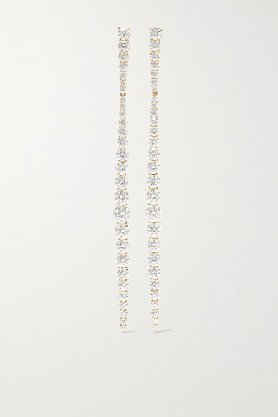 MELISSA KAYE Aria Stiletto 18-Karat Gold Diamond Earrings