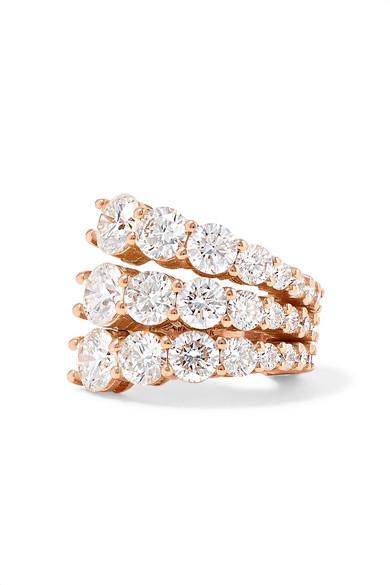 MELISSA KAYE Aria 18-Karat Rose Gold Diamond Ear Cuff
