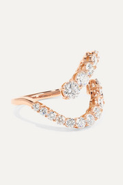 Aria Skye 18-karat rose gold diamond ring