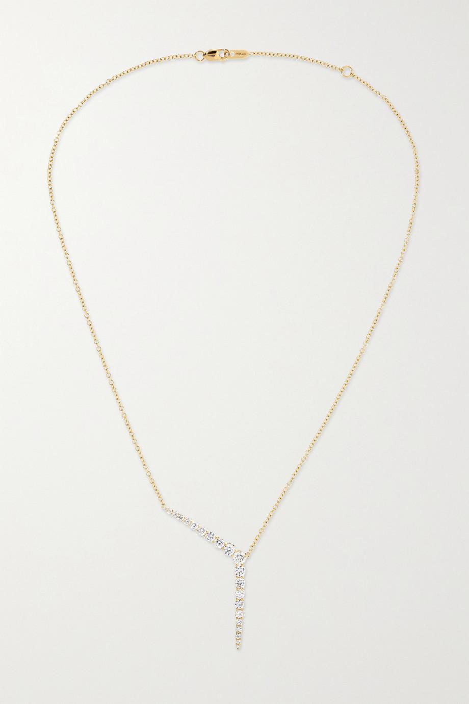 Melissa Kaye Aria Kette in Y-Form aus 18 Karat Gold mit Diamanten