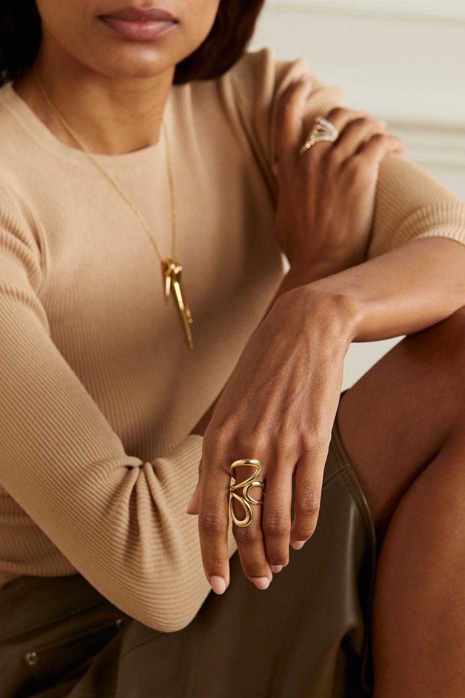 Melissa Kaye Aria Jane 18-karat gold ring