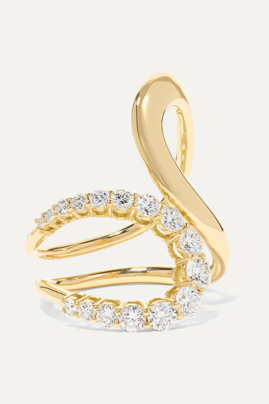 Melissa Kaye Aria Jane Ring aus 18 Karat Gold mit Diamanten