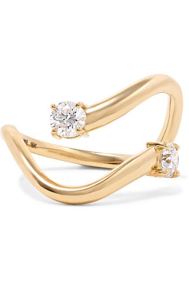 MELISSA KAYE Aria Skye 18-Karat Gold Diamond Ring