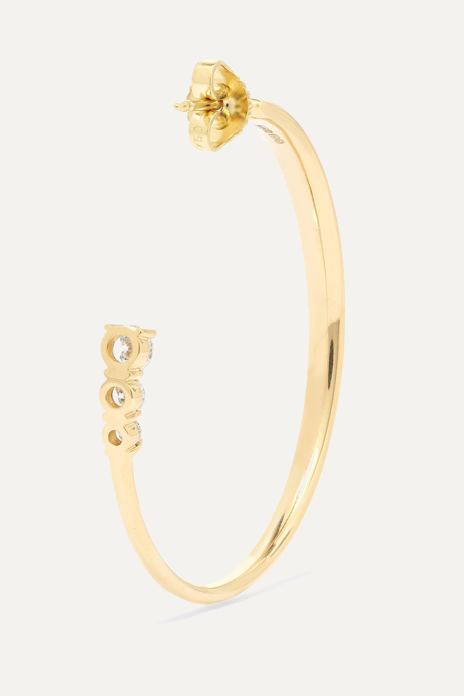 Melissa Kaye Aria 18-karat gold diamond hoop earrings