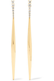 Aria 18-karat gold diamond earrings